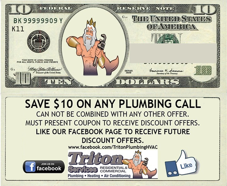 10 Dollar Plumbing Coupon - click to open in new window and download